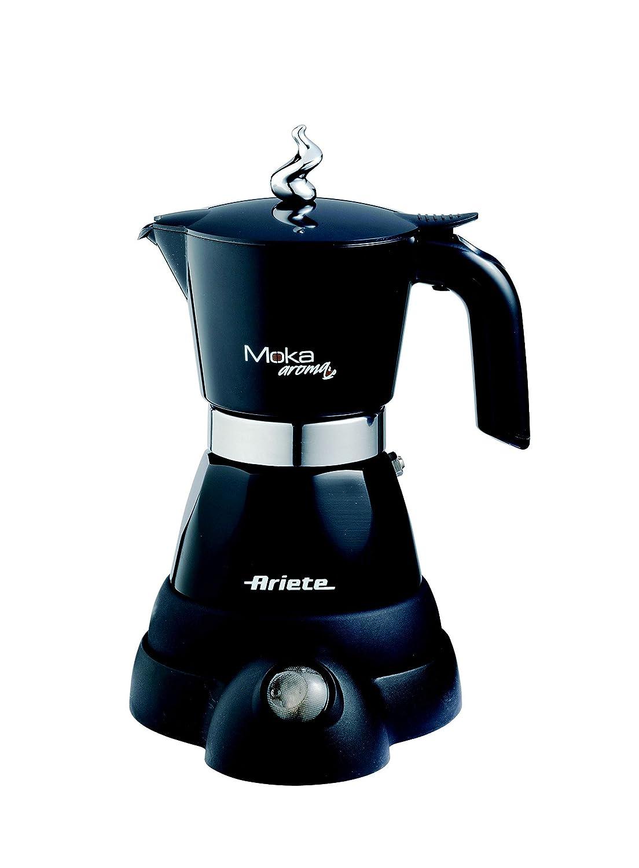 Ariete 1358 Electric Moka Aroma Coffee Machine, 480 W, Black 1358B