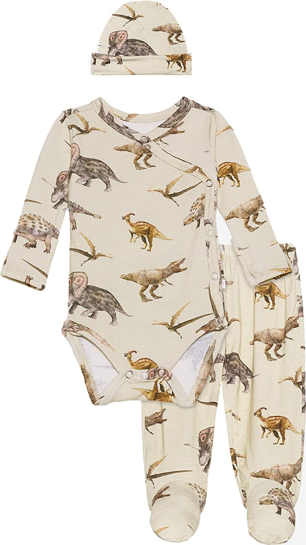 Posh Peanut Newborn Girl Clothes - Infant Bodysuit from Soft Bamboo Viscose - Little Kids Three Piece Set