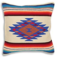 Serape Throw Pillow Cover, 18 X 18, Hand Woven in Southwest and Native American Styles. 6