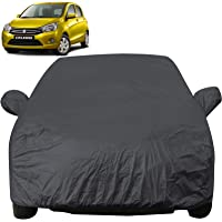 Autofact Car Body Cover with Mirror Pockets Compatible for Maruti Celerio (Triple Stitched, Bottom Fully Elastic, Dark Grey)