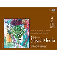 Strathmore Mixed Media Paper Pad, 18 by 24-Inch, 15 Sheets