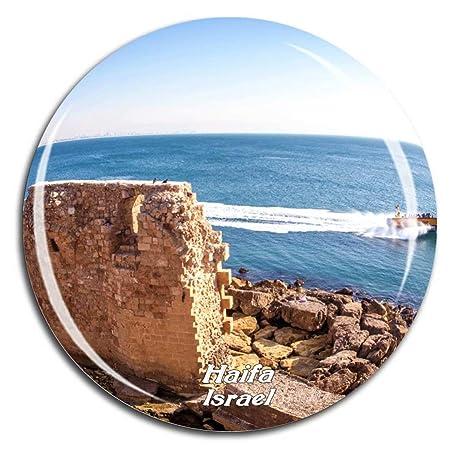 Weekino Ciudad Vieja de Acre Haifa Israel Imán de Nevera Cristal ...