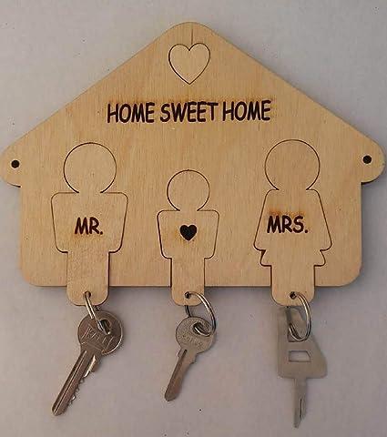 Mr and Mrs - Ganchos decorativos para llaves, llavero de ...