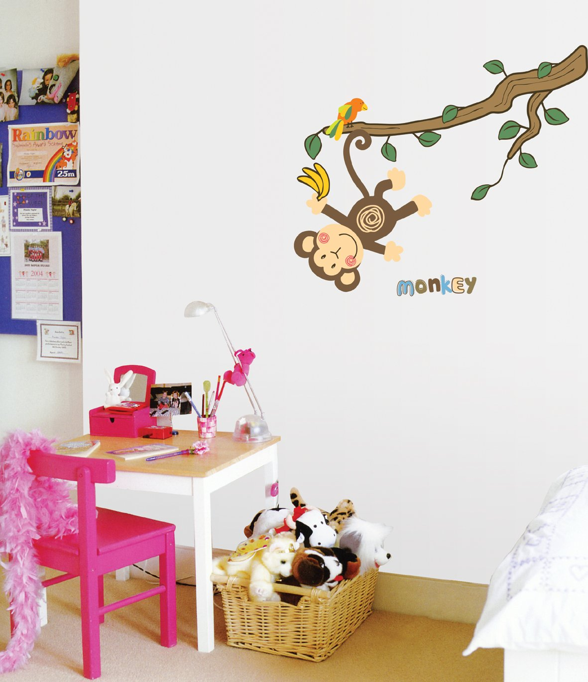 amazon com monkey hanging over trees nursery kids room wall art amazon com monkey hanging over trees nursery kids room wall art sticker decal home kitchen