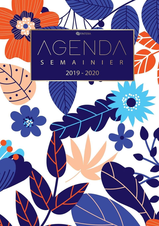 Calendrier Agenda 2020.Agenda Journalier 2019 2020 Agenda Semainier Aout 2019 A