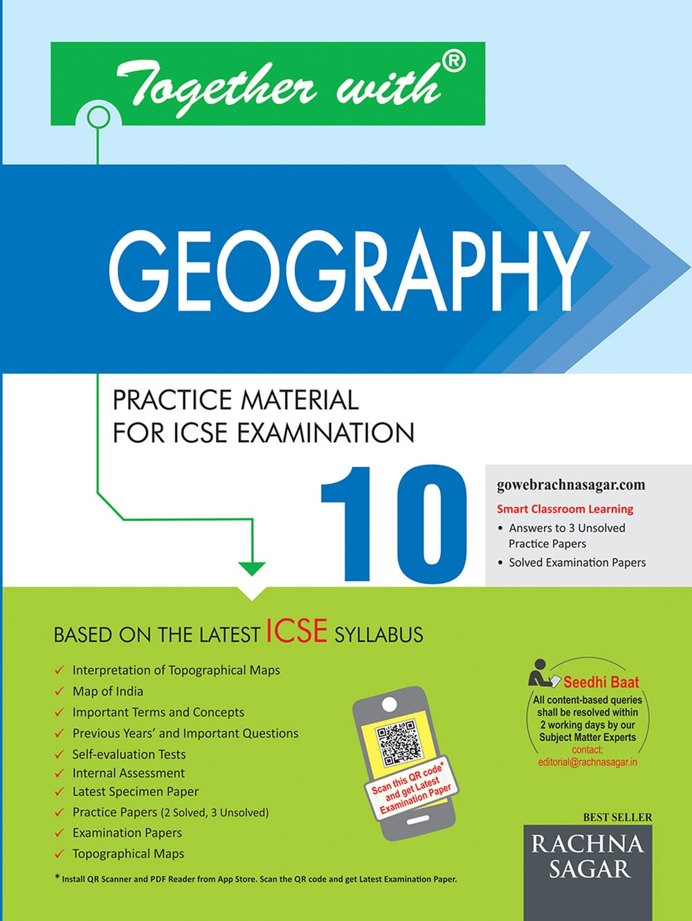 Together With Geography ICSE - 10 (Old Edition): Amazon.in: Rachna Sagar:  Books