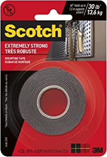 product image for 3M Scotch Extreme Mounting Tape, 1 by 60-Inch, Black