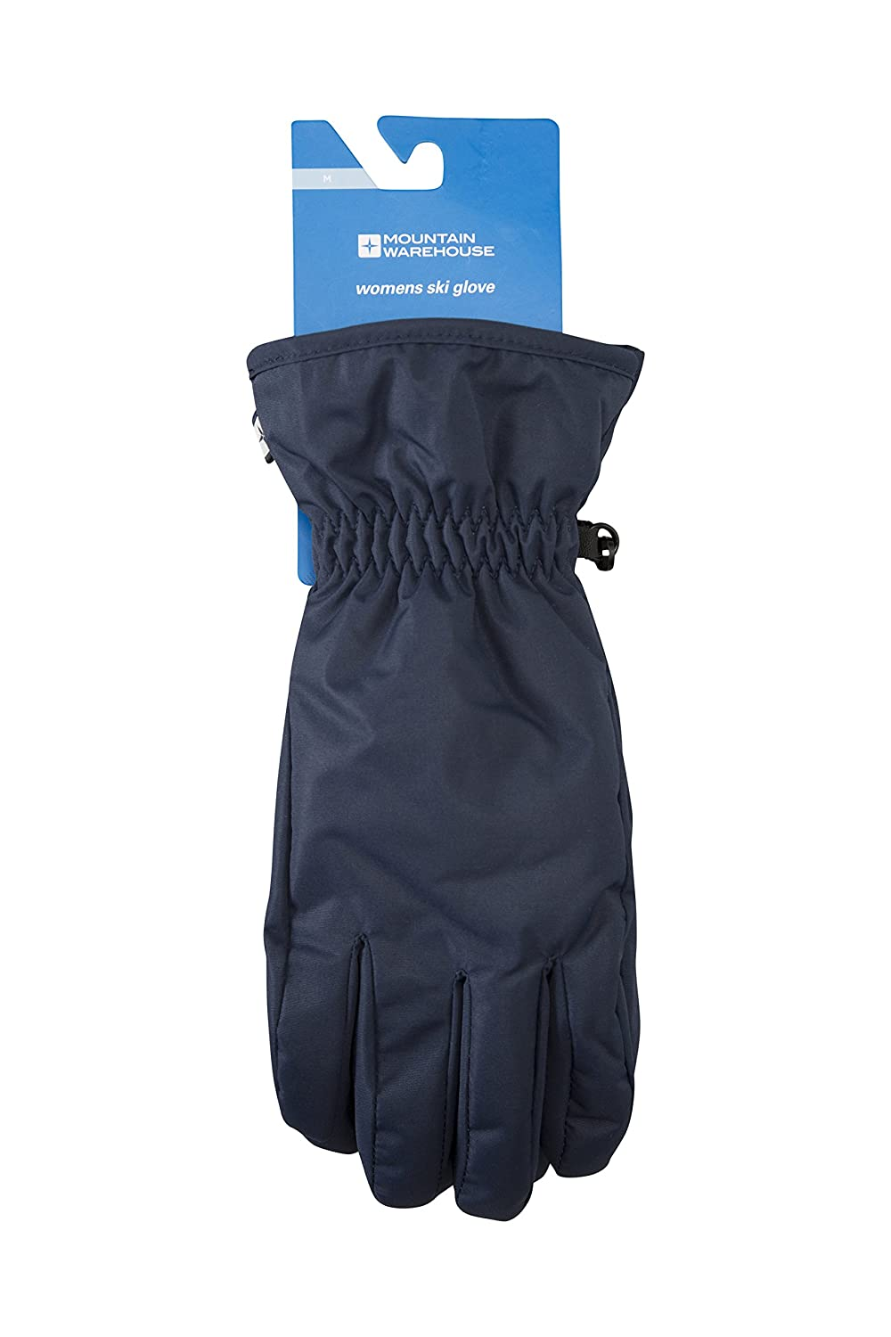 Mountain Warehouse Women's Ski Gloves - Snow Proof, Textured Palm with Adjustable Cuffs & Fleece Lined - Insulated & Fleece Lined for Extra Warmth