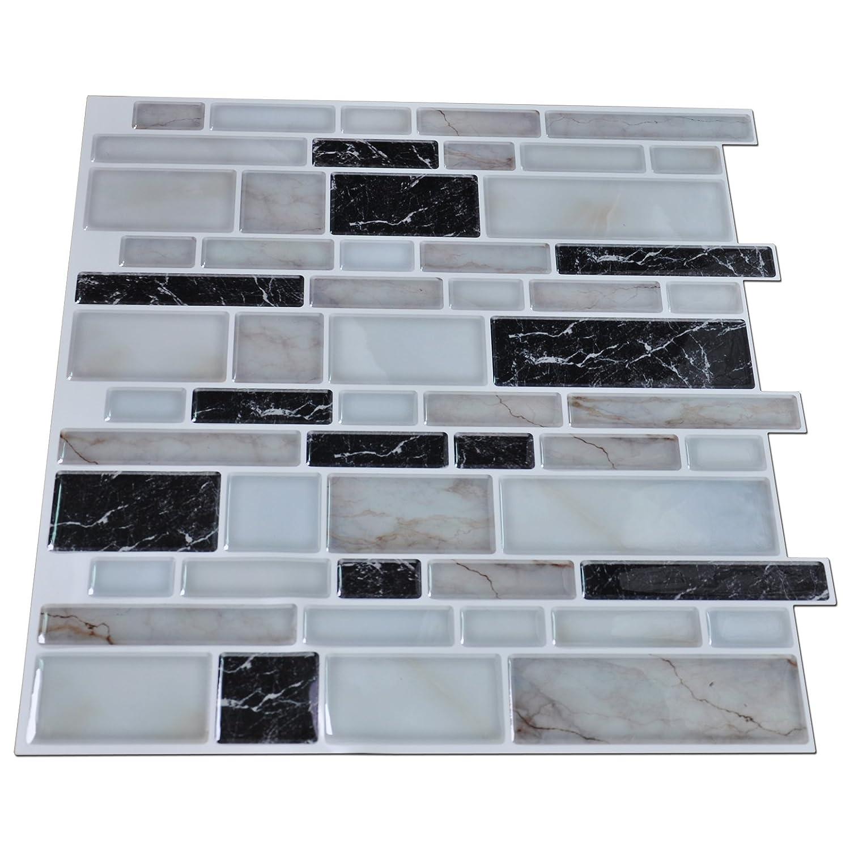 Art3d Peel and Stick Kitchen or Bathroom Backsplash Tile, Wall ...