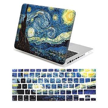 Lenboes Snap On - Carcasa rígida para Apple MacBook de 12 pulgadas, Air 11 13, Pro 13 y Pro Nuevo de 13 o 15 pulgadas, color Van Gogh MacBook Pro 13 ...