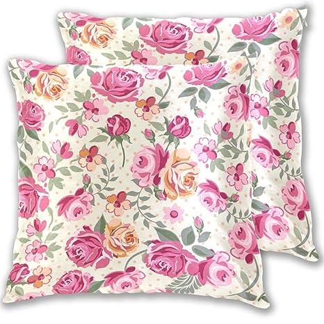 Mnsruu - Funda de cojín con diseño de Rosas para decoración ...