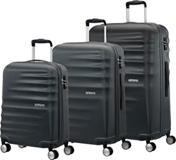 Amazon.com | American Tourister 3 Pieces Set A, Black ...