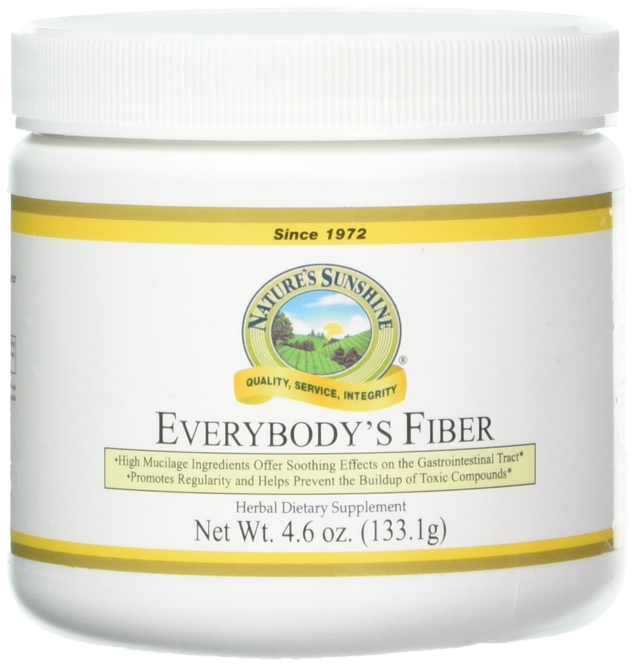 Amazon.com: Natures Sunshine Everybodys Fiber, 4.6 oz. | Promotes Bowel Regularity, Waste Removal, and Digestive Health with Herbal Ingredients: Health ...