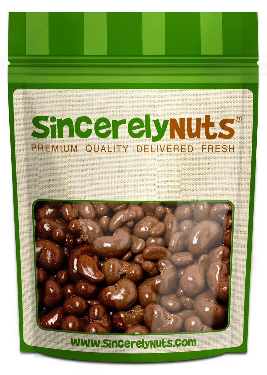 Sincerely Nuts Milk Chocolate Covered Cashews – 5Lb. Bag - Chocolate Dipped & Coated Gourmet Treats | Delicious Gluten Free Snack Food | Wonderful Holiday Gifts, Party Favors, Stocking Stuffers