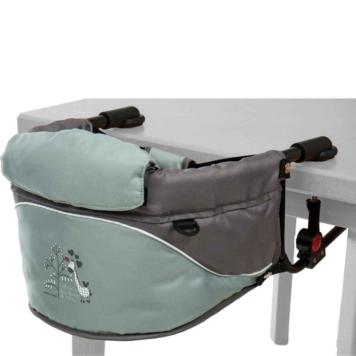Tischsitz Stuhlsitz mit Giraffen-Aufdruck und Transporttasche Hochstuhl Bis 15Kg