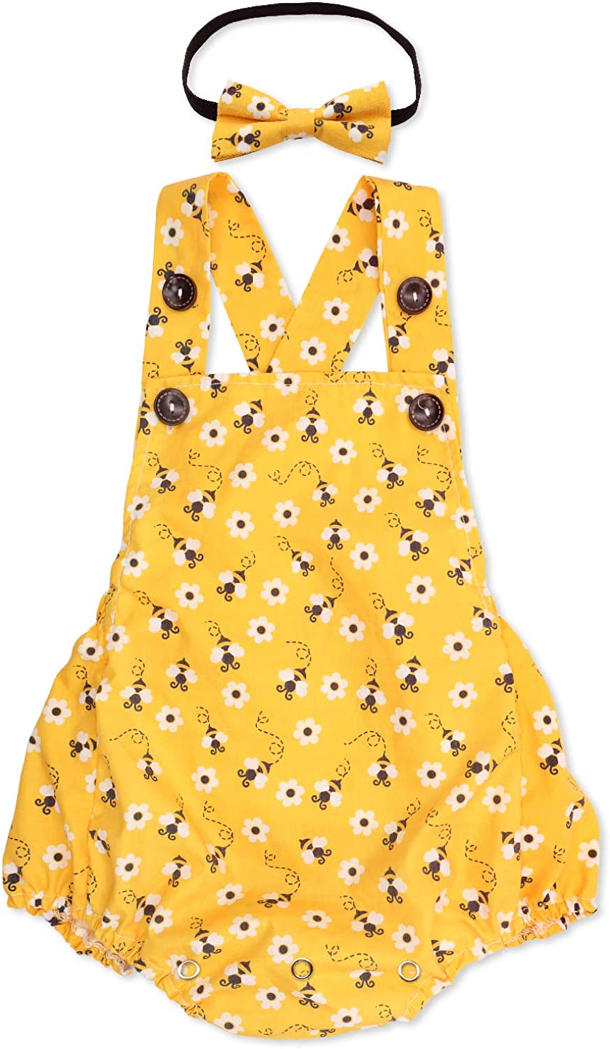 First Birthday Yellow Bumble Bee Outfit