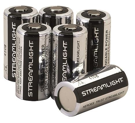 Kända Amazon.com: Streamlight 85180 CR123A Lithium Batteries, 6-Pack BH-03