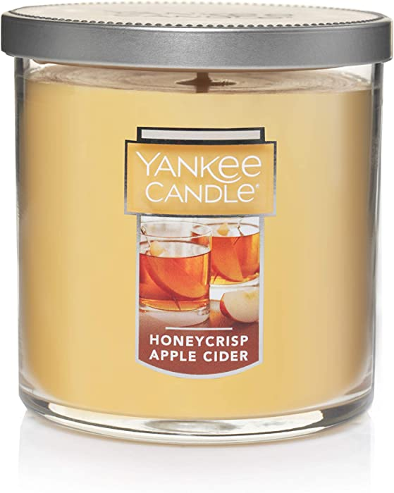 Yankee Candle Small Tumbler Jar Honeycrisp Apple Cider Scented Premium Paraffin Grade Candle Wax with up to 55 Hour Burn Time