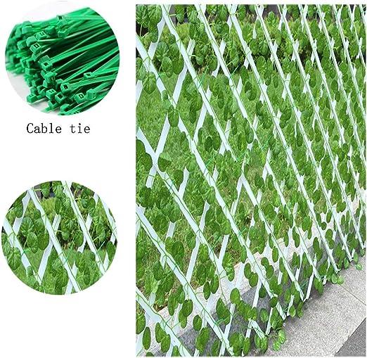 SOULOS Enrejado Extensible para jardín, Enrejado Ajustable con diseño de Flores y Verduras, para Exteriores, con Enrejado de plástico Verde + 500 Dientes: Amazon.es: Jardín
