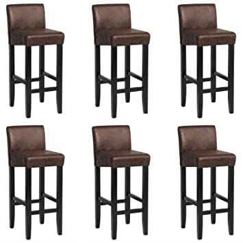 Woltu® bh01dbr-6 6 x sillas de Bar marrón Oscuro - Taburetes de Bar ...