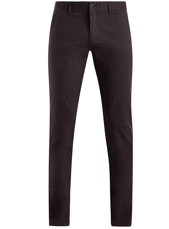 TALLA ES 42 (M). oodji Ultra Hombre Pantalones Chinos de Algodón