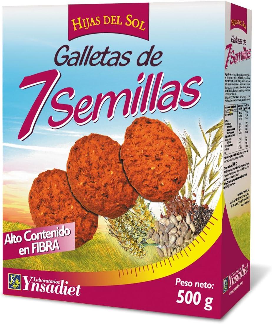 Hijas Del Sol Galletas de 7 Semillas - 500 gr: Amazon.es ...