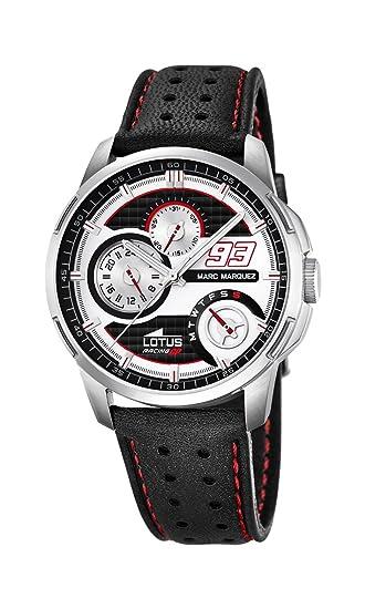 Lotus 18241/1 - Reloj de Pulsera Hombre, Cuero, Color Negro: Amazon.es: Relojes