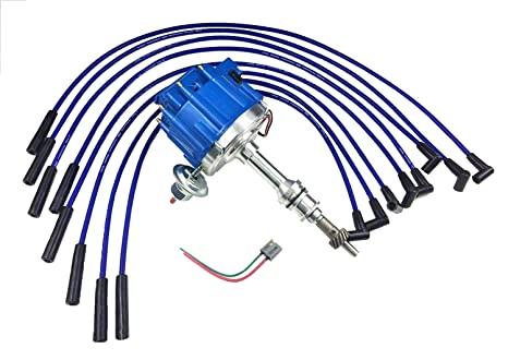 A-Team Performance HEI Complete Distributor 65K Coil Compatible with BBF  Big Block Ford 351C 351M 400M 429 460 One Wire Installation (BLUE HEI KIT)