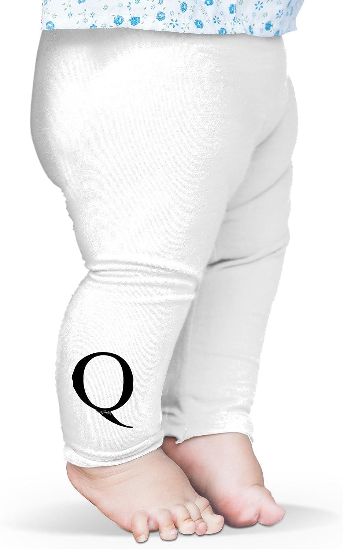 TWISTED ENVY Alphabet Monogram Letter Q Baby Funny Leggings