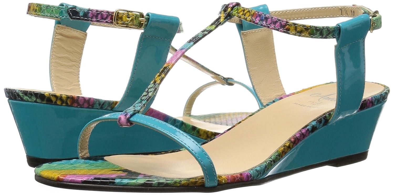 Amalfi by Rangoni Women's Mondiale Wedge Sandal B01M0HZA8E 8 B(M) US|Caribe