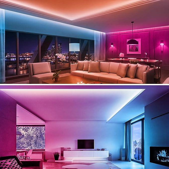 Wasserdicht LED Lichtband Beleuchtung von H/äusern K/üchenbett TV 2x5m HueLiv LED Strip 10m RGB LED Streifen Fernbedienung Farbwechsel Musik LED Leiste Band Lichterkette APP-Steuerung