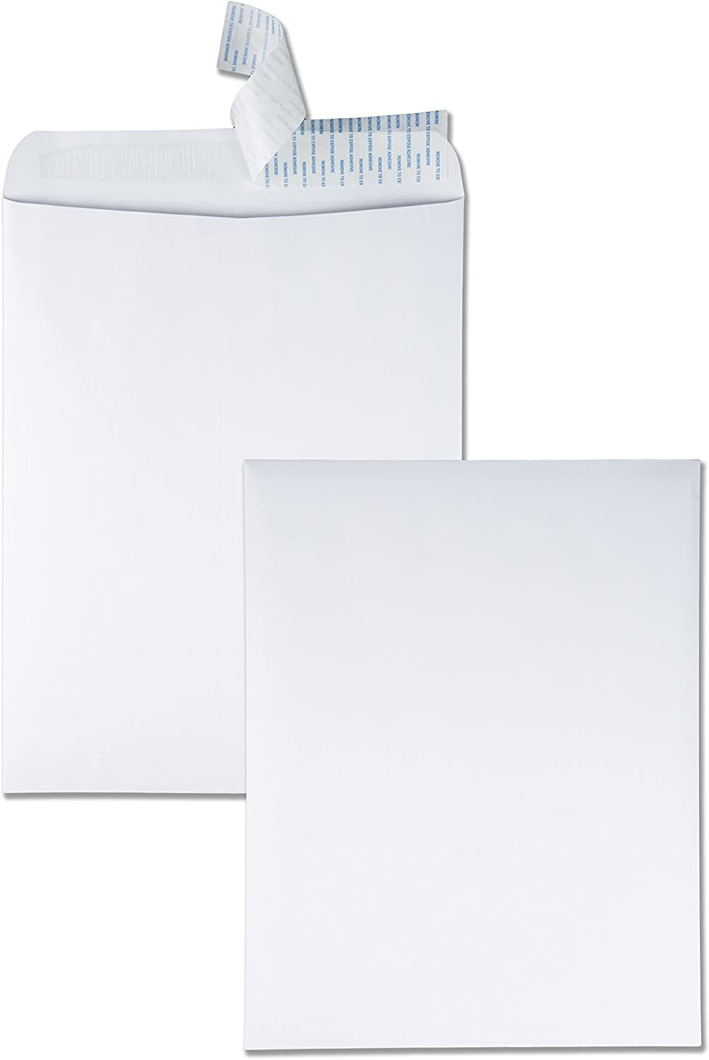 "Quality Park 12"" x 15-1/2"" Redi-Strip Envelopes, 28 lb. White Wove, Self-Sealing Closure, 100/Box (QUA44082) : Office Products"