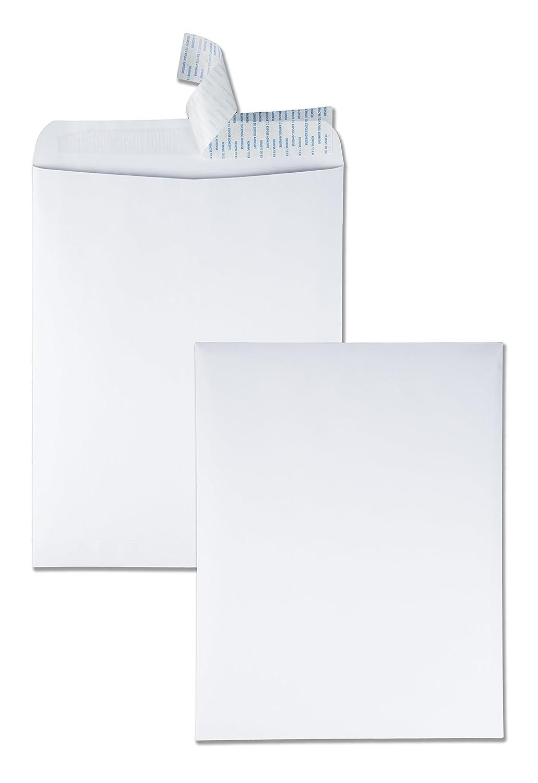 Quality Park Redi-Strip Catalog Envelopes, 12 X 15.5-Inch, White, Box of 100 (44082)