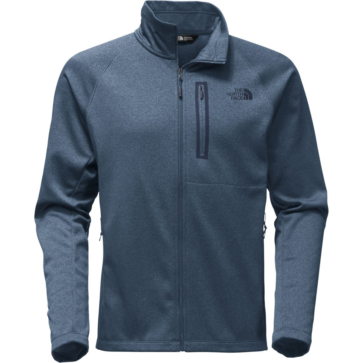 The North Face Men's Canyonlands Full Zip Shady Blue Heather - M