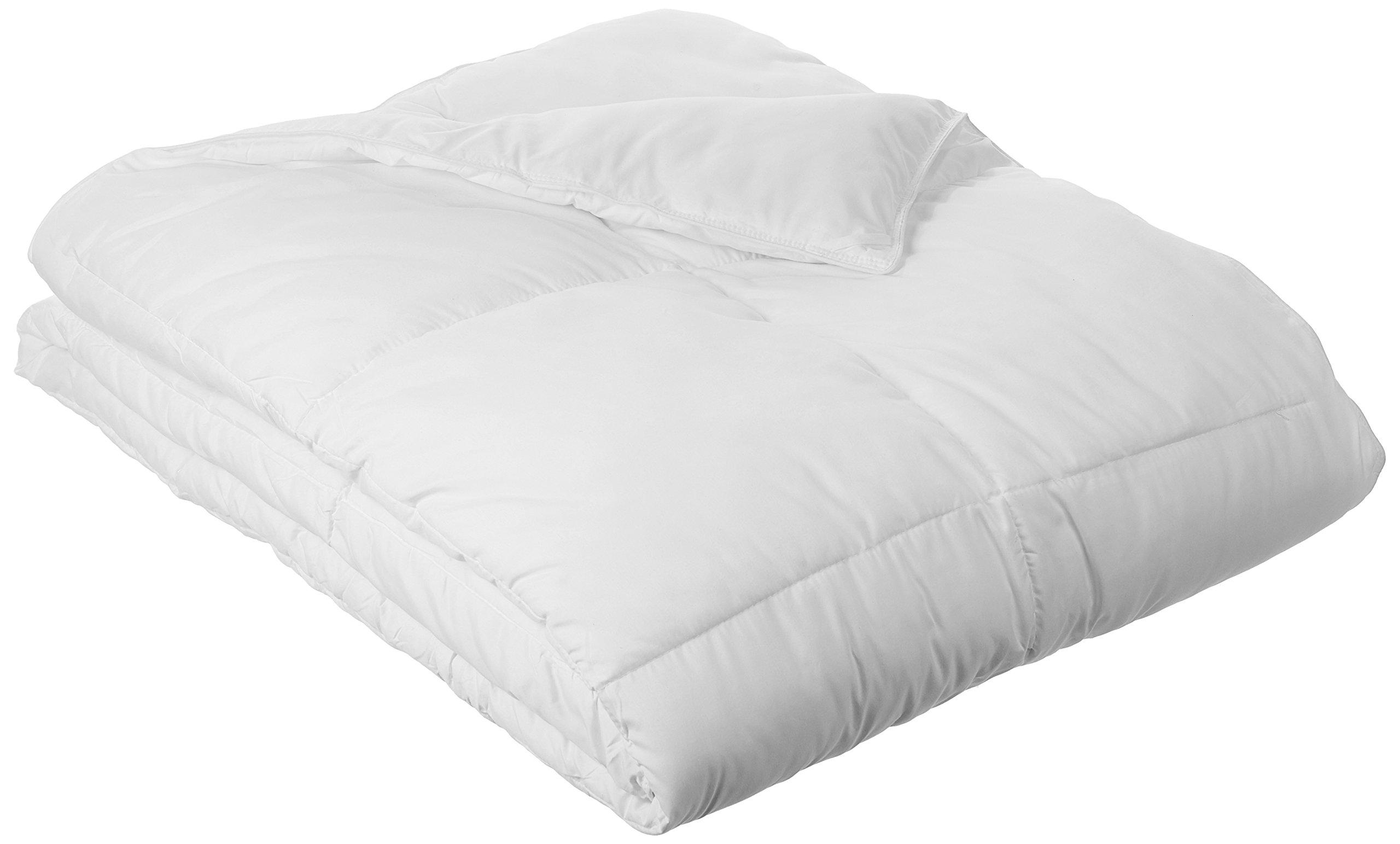 AmazonBasics Down Alternative Bed Comforter, King, White