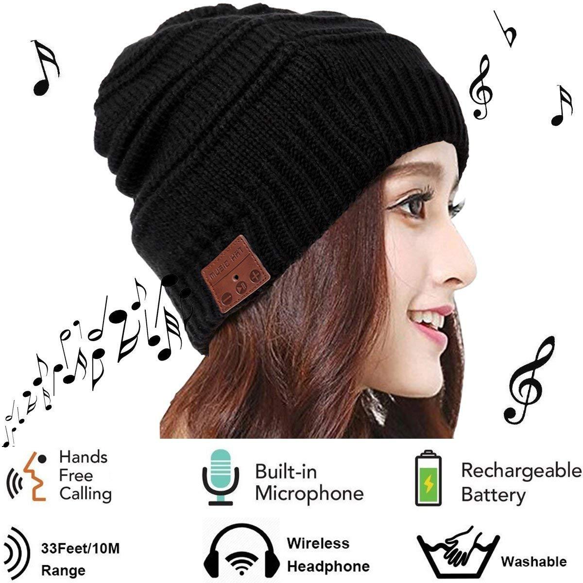 0038cffdf428b Mystery Unisex Gorro Bluetooth - Sombrero Musica con Auriculares  inalámbricos