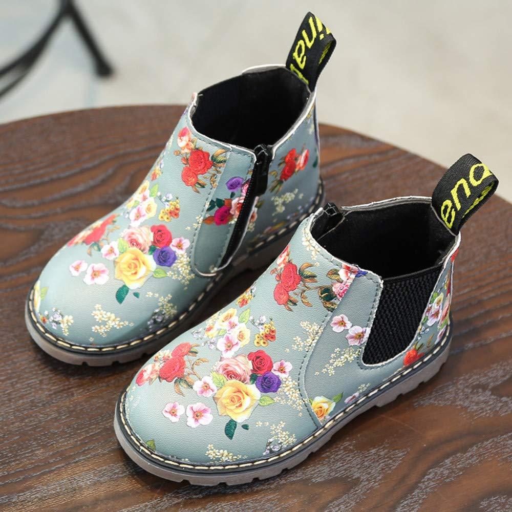 Sunday M/ädchen Mode Floral Kinder Schuhe Baby Stiefel Casual Kinder Stiefel Baby M/ädchen Jungen Lauflernschuhe B-24 Stiefel Kinder