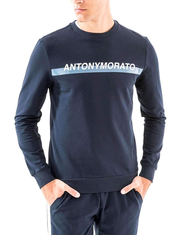 Antony Morato Sweatshirt Mann Logo Marine Blau