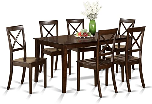 CAB7S-CAP-W 7 Pc formal Dining room'set - Table and 6 formal Dining Chairs