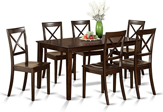 CAB7S-CAP-W 7 Pc formal Dining room set - Table and 6 formal Dining Chairs