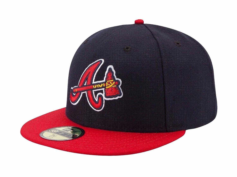 New Era Atlanta Braves Alternative Cap 5950 Basic Fitted Team Basecap Cap Kappe 7 ネイビー B002TIGU5A