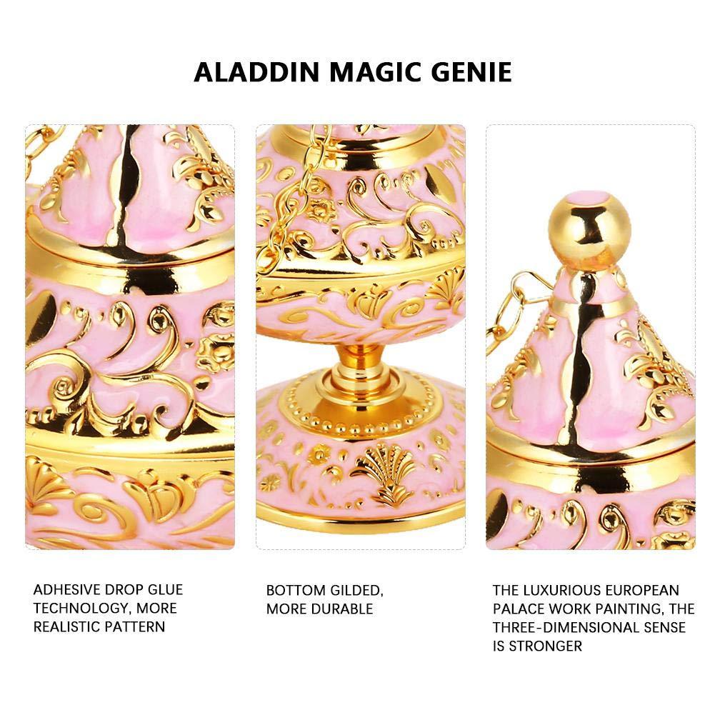 Retro Metal Fiaba Aladdin Magia Genie Teiera Lampada a olio Home Decoration Table blu trasparente Magic Aladdin Lamp