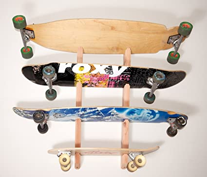 Longboard Wall Rack Mount -- Holds 4 Boards & Amazon.com : Longboard Wall Rack Mount -- Holds 4 Boards : Indoor ...