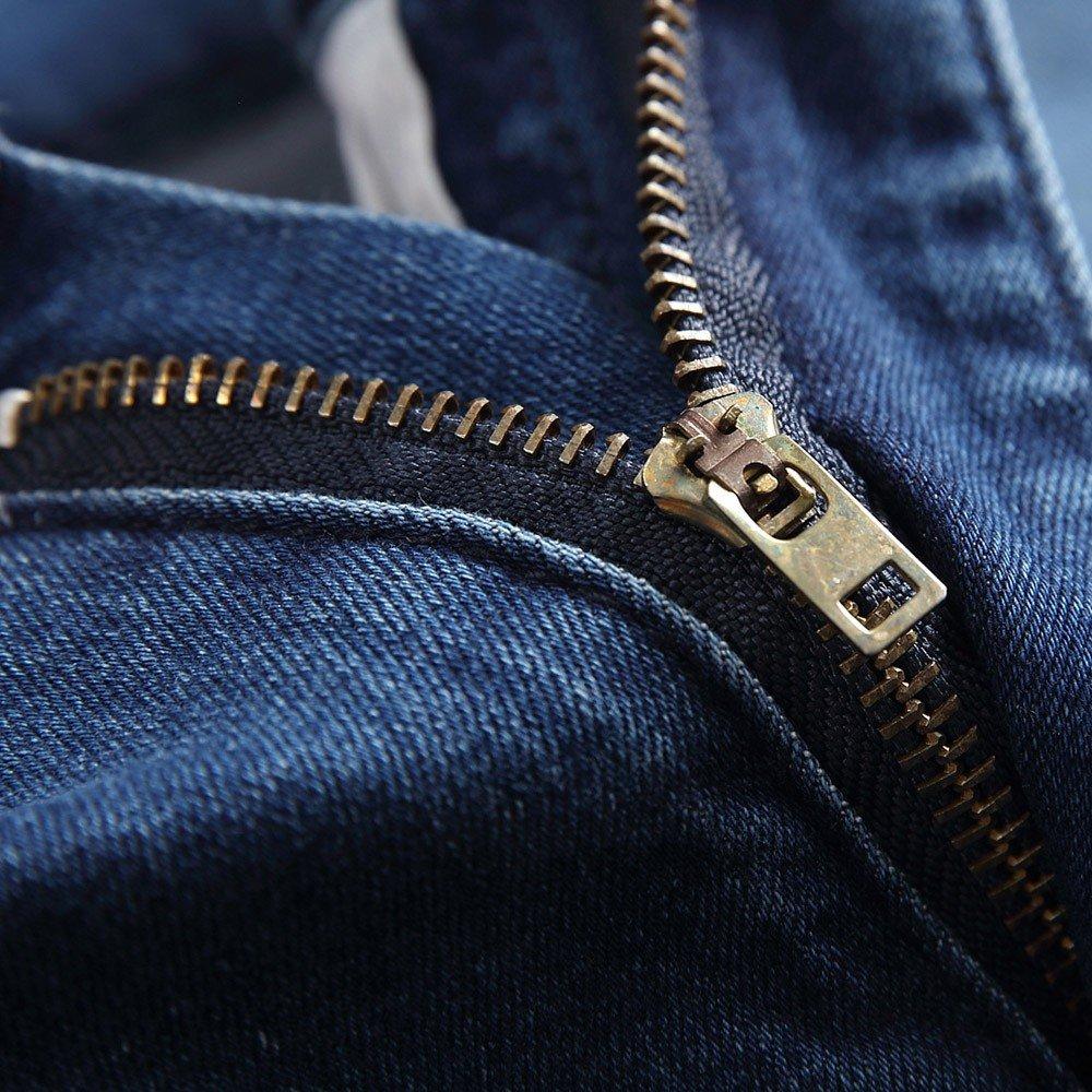 Gusspower Pantalones Vaqueros Hombres Rotos Pitillo Slim Fit Skinny Pantalones  Casuales Elasticos Agujero Pantalón Personalidad Jeans  Amazon.es  Ropa y  ... 8c55c9bfa5f7