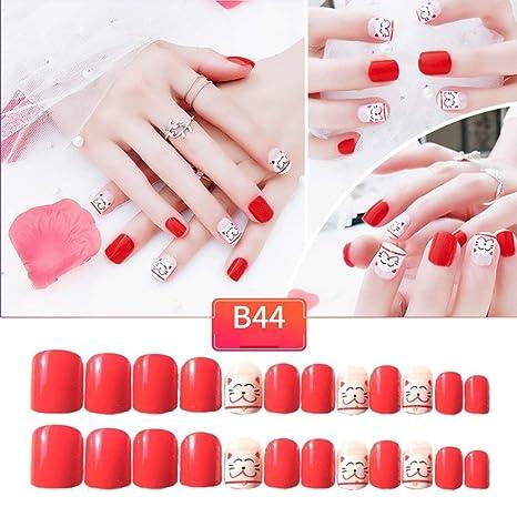Fannty 24 piezas de uñas postizas, moda la novia uñas ...