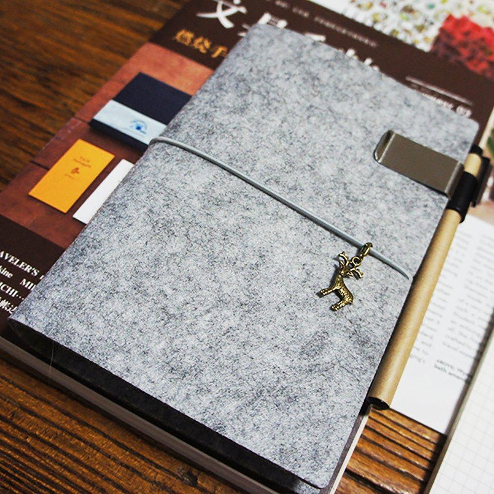 adatto per quaderni e taccuini raccoglitore ricaricabile con inserti Zhi Jin Formato: A5 Con portapenne Cherry Pink