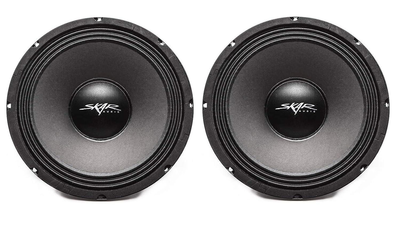2 Speakers Skar Audio FSX10-8 400-Watt 10-Inch 8 Ohm Mid-Range Loudspeakers 2