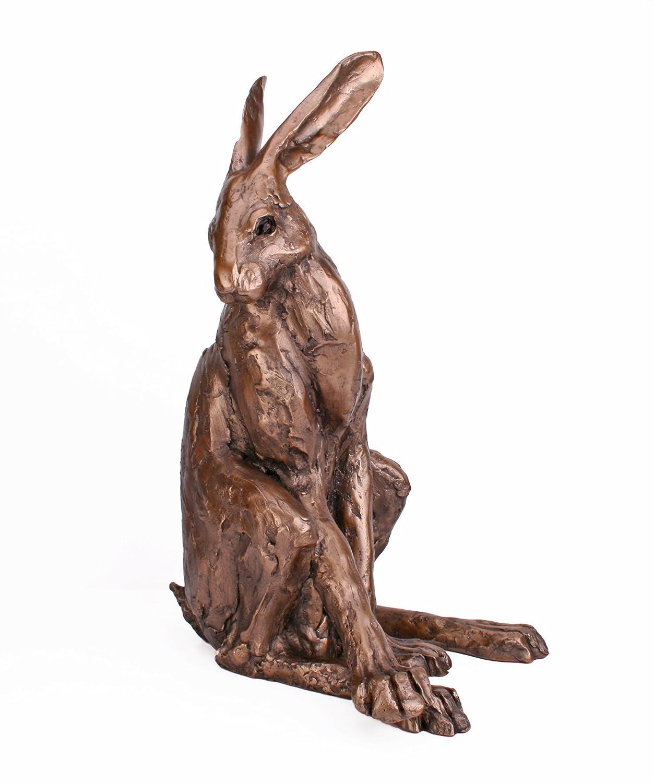 "Skulptur ""Sitzender Hase"" Gartenskulptur Höhe 46cm"