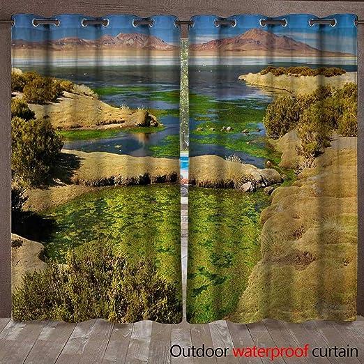 BlountDecor Salar de Atacama - Cortina Impermeable (274,3 x 243,8 ...