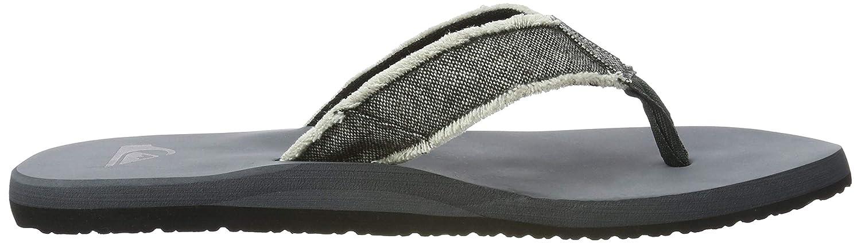 Grey//Black//Grey UK 10 Quiksilver Monkey Abyss Flip Flops